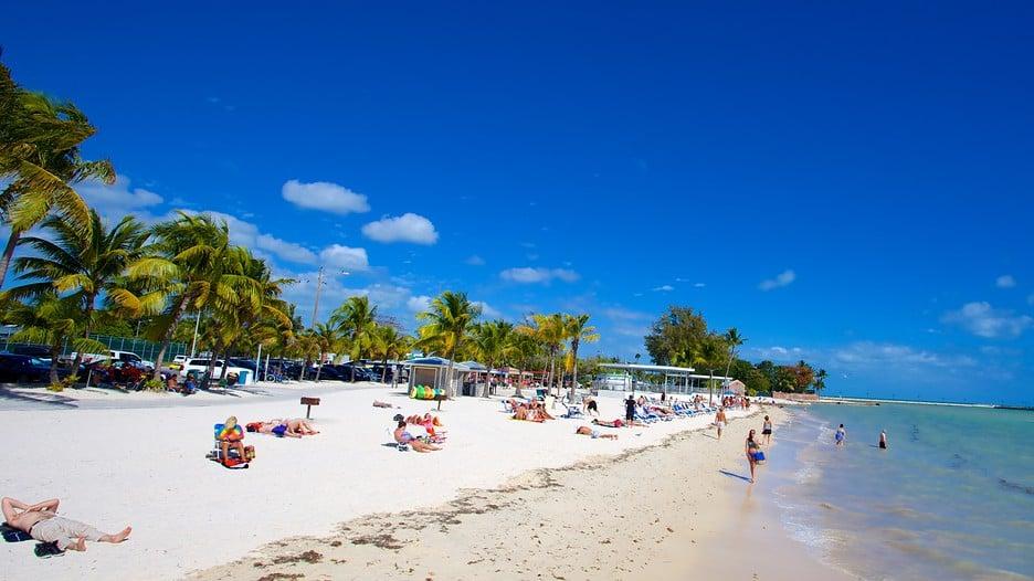 Praia da ilha de Key West na Flórida