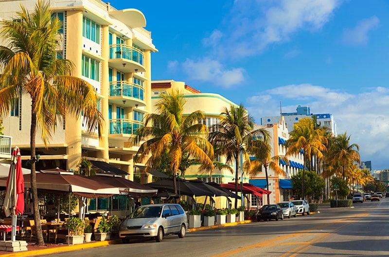 Ocean Drive em Miami Beach
