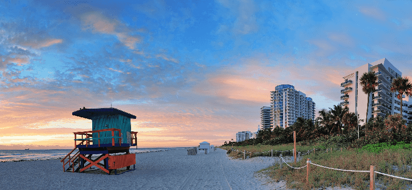 Ponto turístico South Beach em Miami