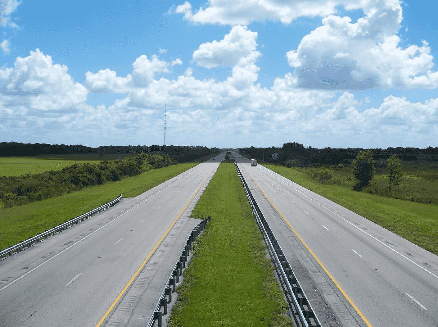 Trajeto de carro de Miami a Orlando