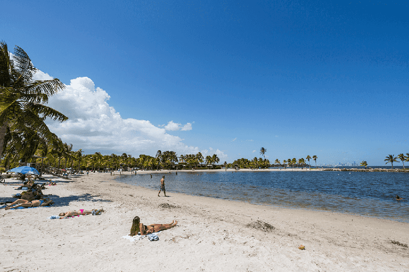 Praias mais tranquilas para as crianças em Miami