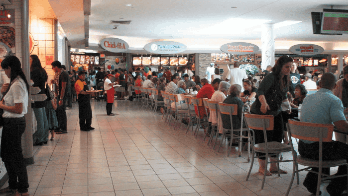Restaurantes no shopping Dadeland Mall Miami