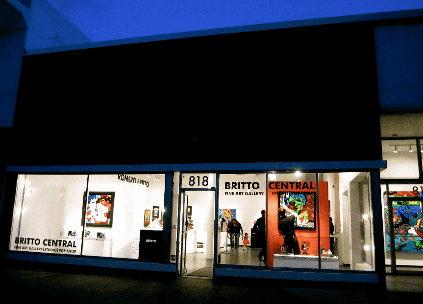 Localização da galeria de arte do Romero Britto em Miami