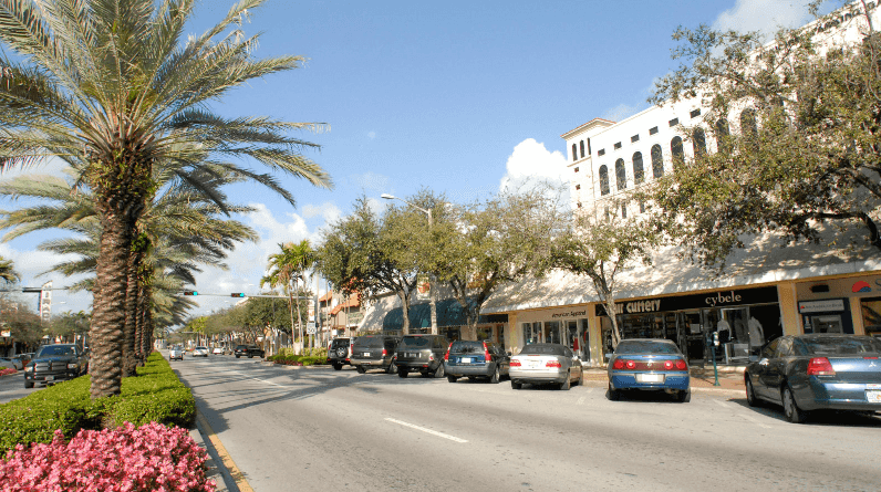 Miracle Mile em Coral Gables