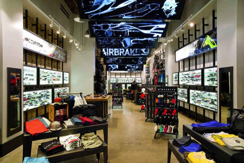 Produtos nas lojas Oakley em Miami