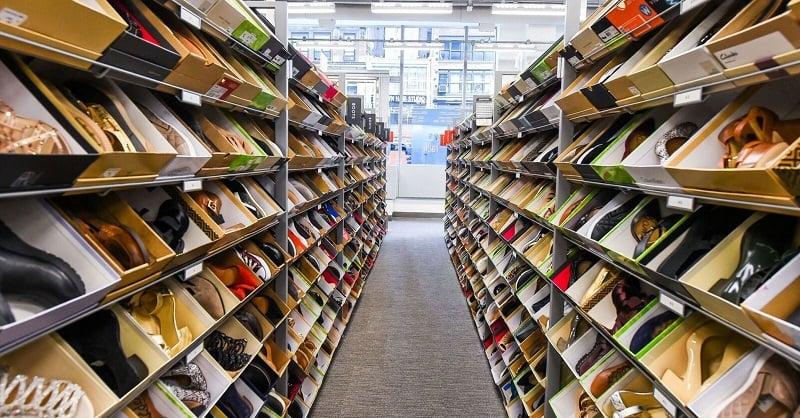 Produtos e mercadorias na loja Nordstrom