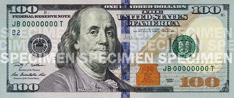 Notas de 100 dólares em Miami e Orlando