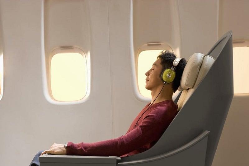 Sossego em um voo para Miami