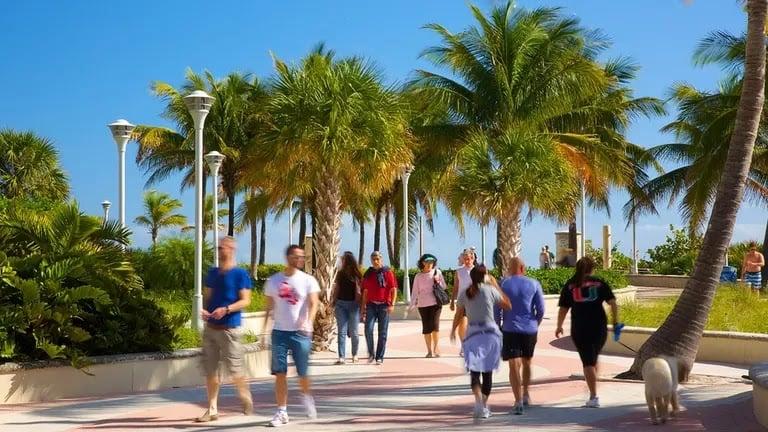 Turistas em Miami