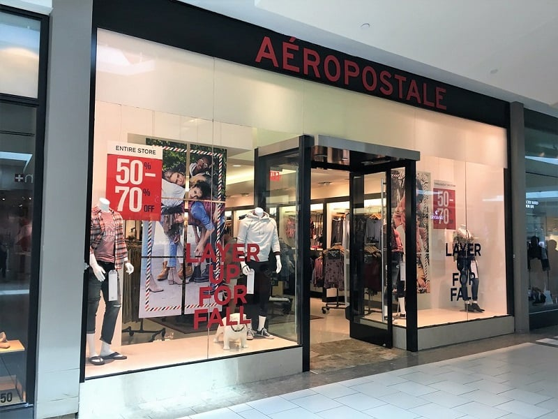 Unidades das lojas Aéropostale em Miami