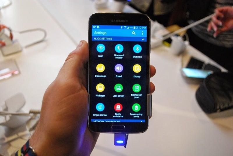 Compras de Samsung Galaxy S5 e S4 nos Estados Unidos