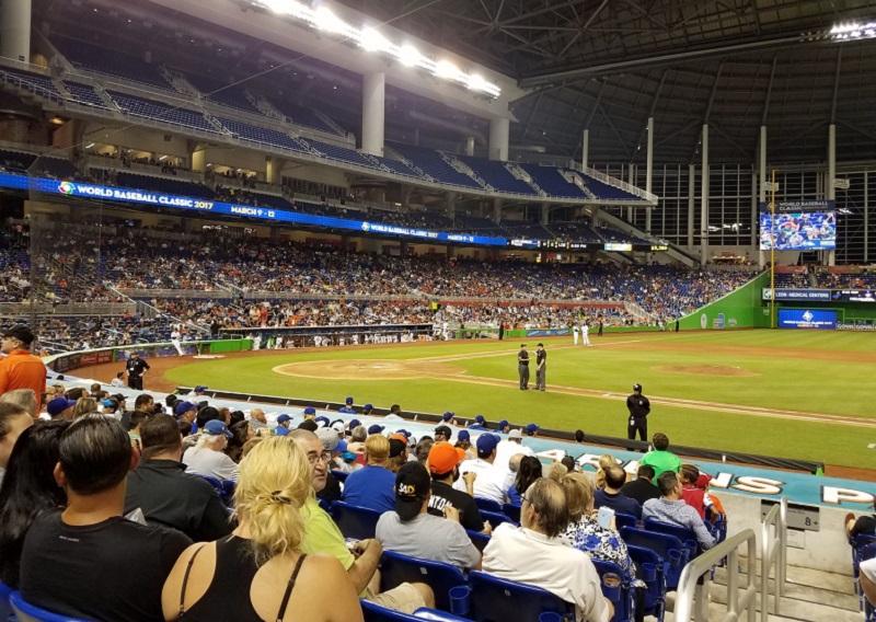 Jogo do Marlins Park em Miami