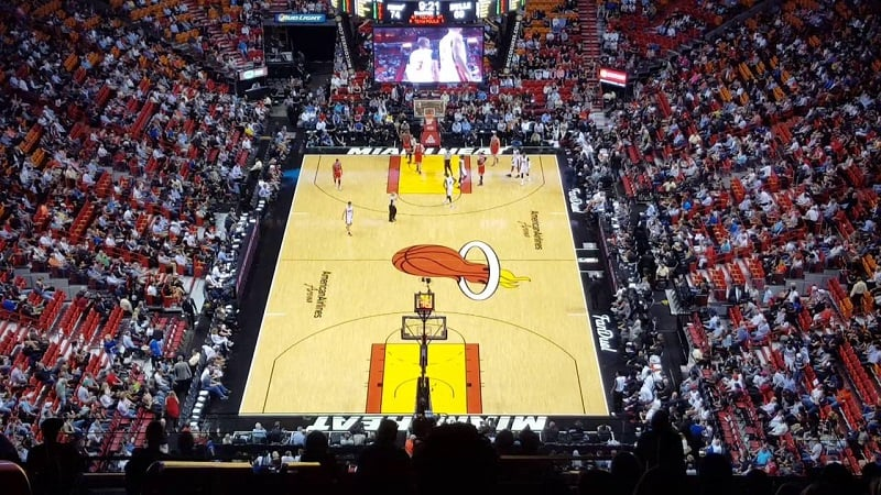 Miami Heat no American Airlines Arena em Miami