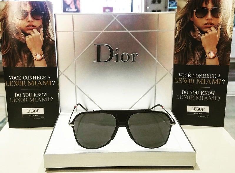 Marcas na loja de óculos Lexor Miami