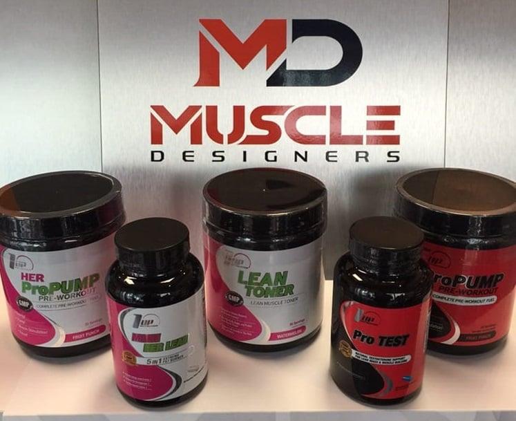 Produtos da Muscle Designers em Miami