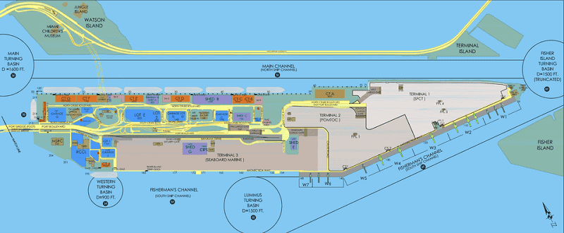 Mapa do PortMiami