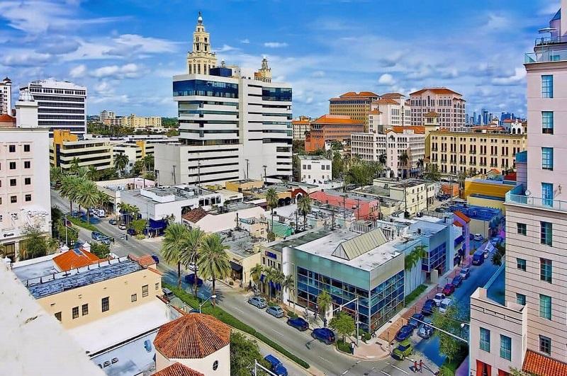 Passeio em Coral Gables em Miami