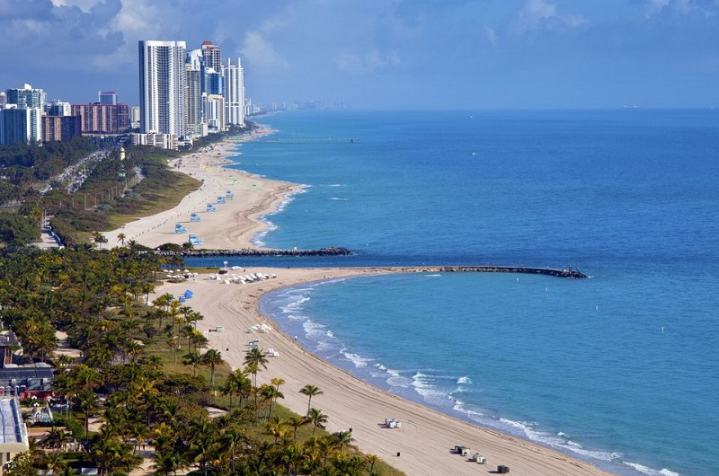 Praia Haulover Park Beach em Miami