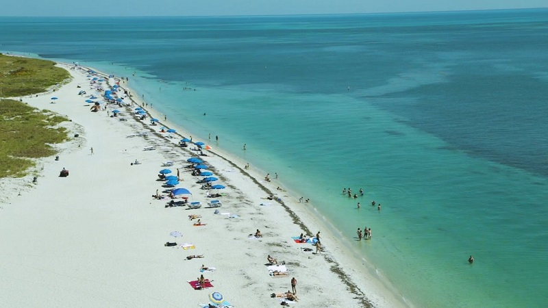 Praia em Key Biscayne em Miami