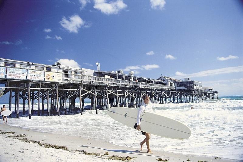 Praia Cocoa Beach para surfar em Miami