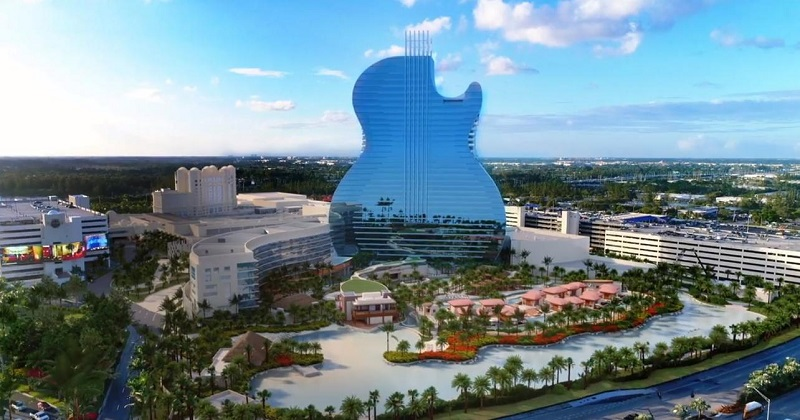 Visita ao Hard Rock Hotel Cassino em Miami