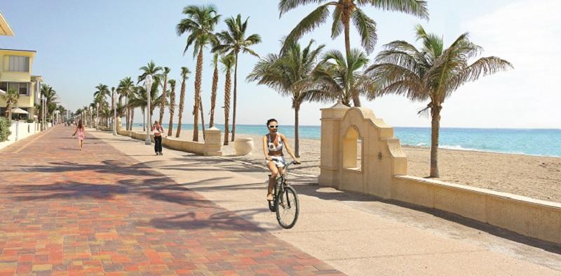 Praias em uma viagem sozinho em Miami