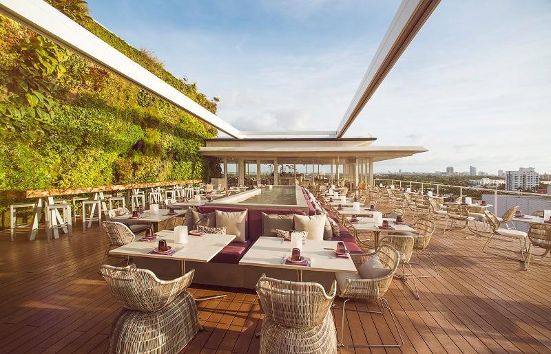Bar Rooftop Juvia em Miami