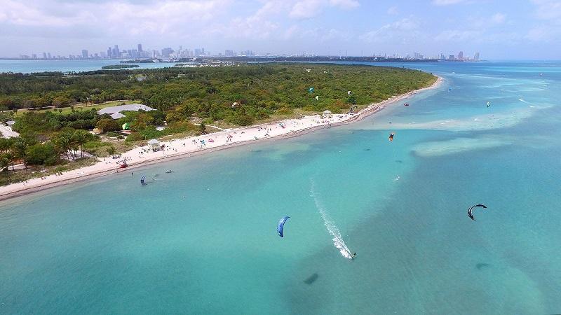 Praia Key Biscayne Beach em Miami