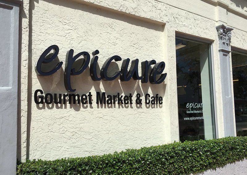 Fachada do Epicure Market em Miami