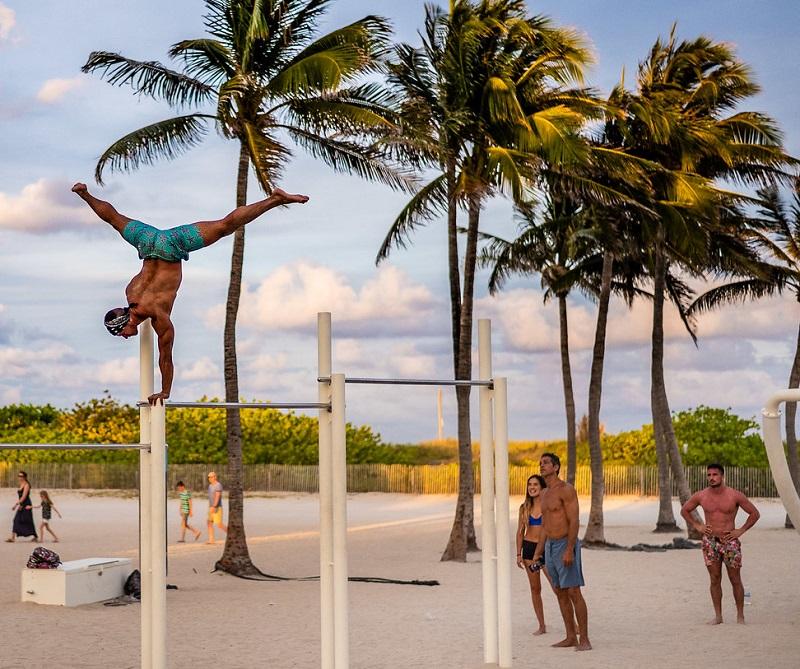 Atividades físicas no Lummus Park em Miami