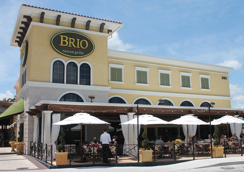 Restaurante Brio Tucan Grill no Shopping The Falls em Miami