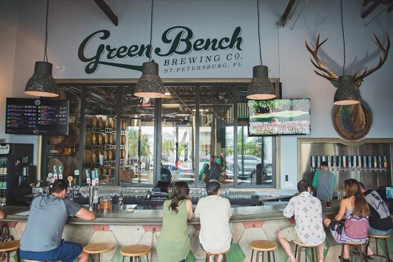 Cervejaria Green Bench Brewing Company em São Petersburgo