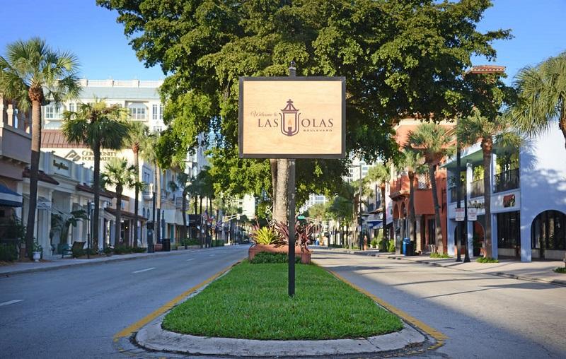 Las Olas Boulevard em Miami