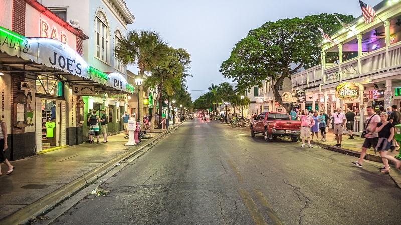 Duval Street em Key West