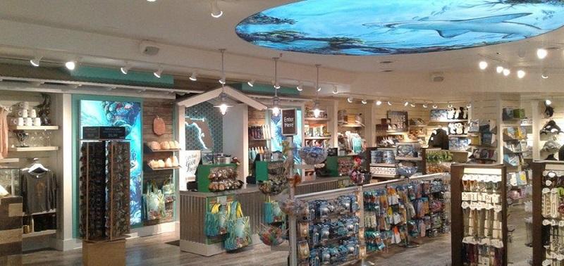 Loja no Florida Aquarium em Tampa