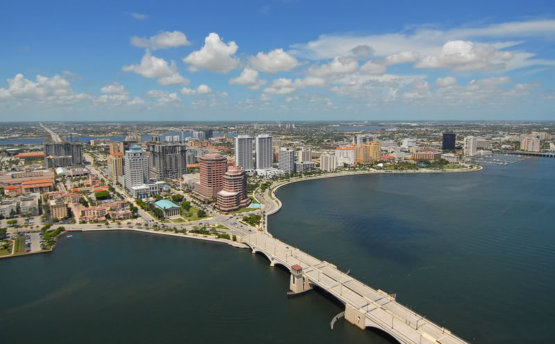 Cidade Palm Beach na Flórida