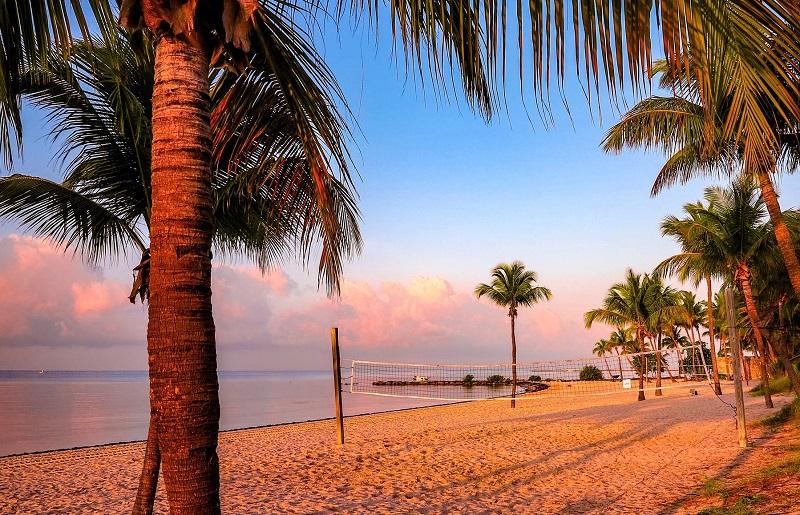 Praia Smathers em Key West