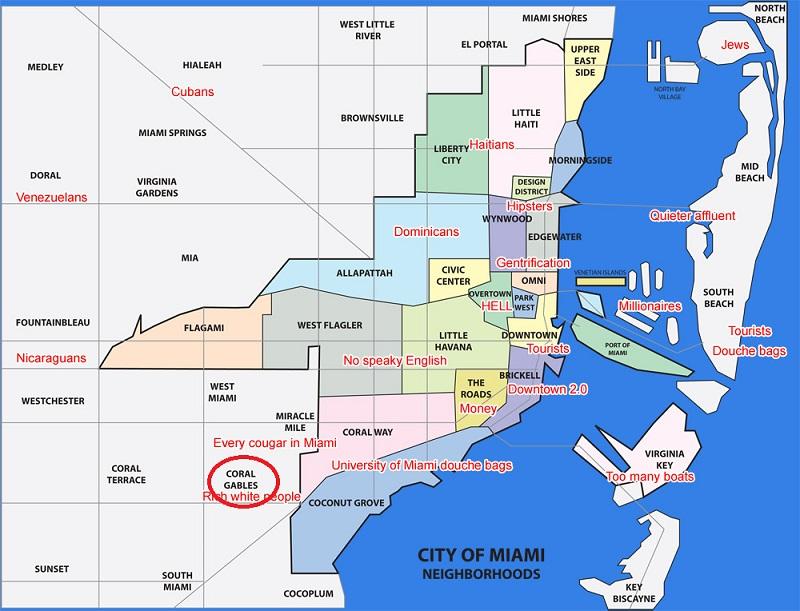Coral Gables Mapa