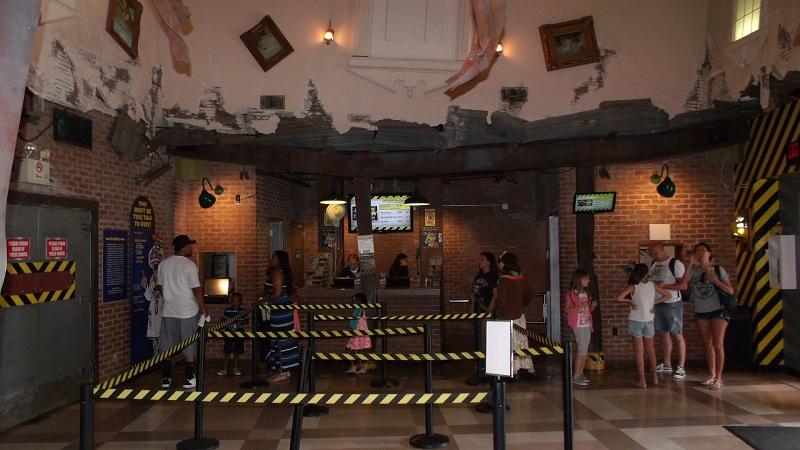Atração Disaster Zone em WonderWorks