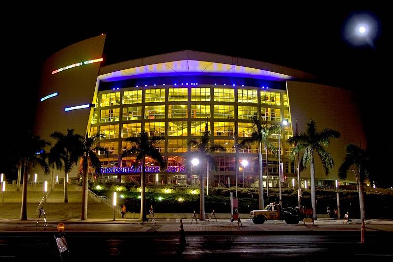 Fachada da American Airlines Arena em Miami