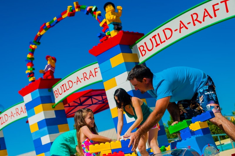 Família na Legoland Florida