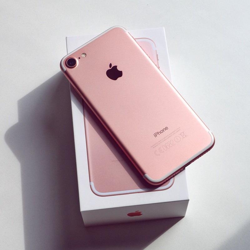 iPhone 7 rosa com caixinha