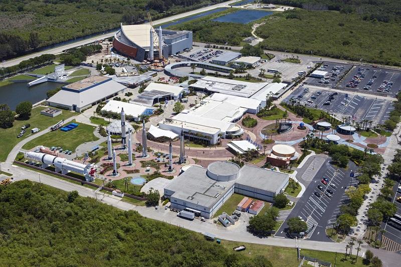 Panorâmica do Centro Espacial da NASA em Orlando
