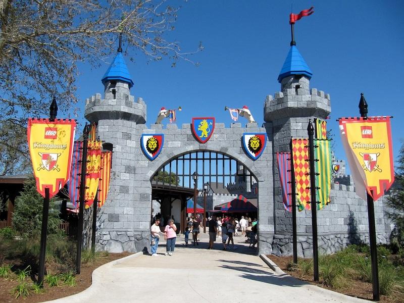 Área Lego Kingdoms no Parque da LEGO em Orlando