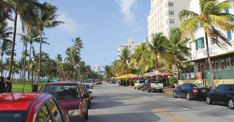 Ocean Drive em South Beach em Miami