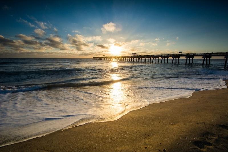 Praias de Palm Beach na Flórida