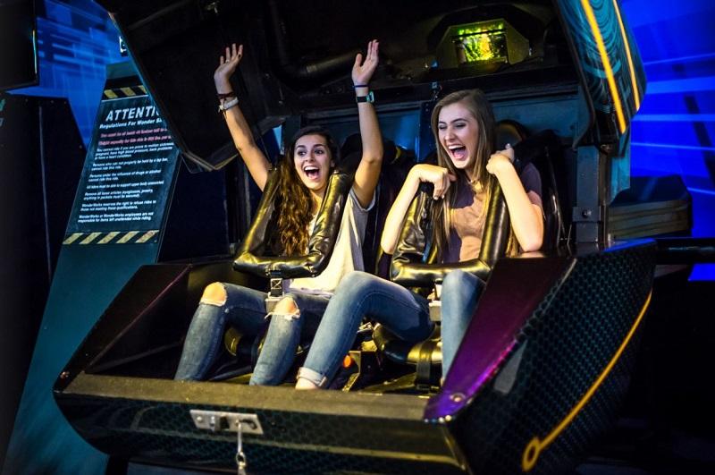 Atração Wonder Coaster em WonderWorks