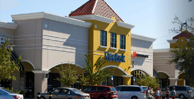 Loja Reebok no outlet The Lake Buena Vista Factory Stores em Orlando