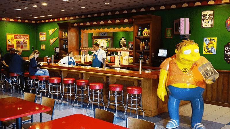 Restaurante em Springfield no Universal Studios
