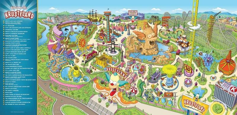 Mapa de Springfield no Universal Studios